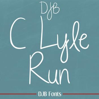 DJB C Lyle Run Font - Personal Use