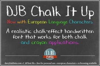 DJB Chalk It Up Font - Personal Use