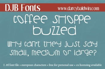 DJB Coffee Shoppe Buzzed Font - Personal Use