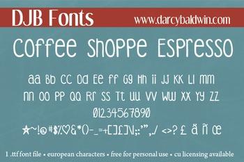 DJB Coffee Shoppe Espresso Font - Personal Use