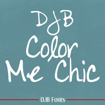 DJB Color Me Chic Font: Personal Use