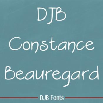 DJB Constance Beauregard Font: Personal Use