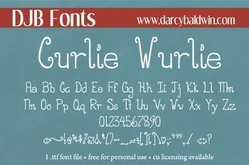 DJB Curlie Wurlie Font - Personal Use