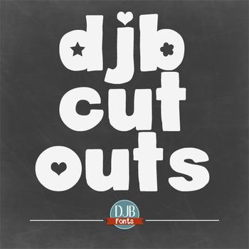 DJB Cutouts Fonts - Personal Use