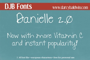 DJB Danielle 2.0 Font - Personal Use