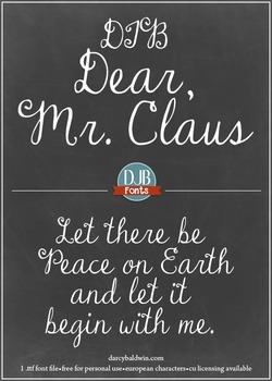 DJB Dear Mr. Claus Font: Personal Use