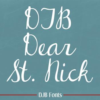 DJB Dear St. Nick Font: Personal Use