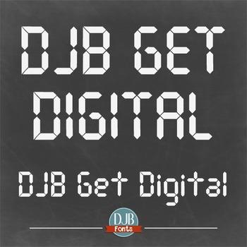DJB Digital Clock Font - Personal Use