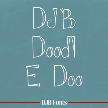 DJB Doodl E Doo Font - Personal Use