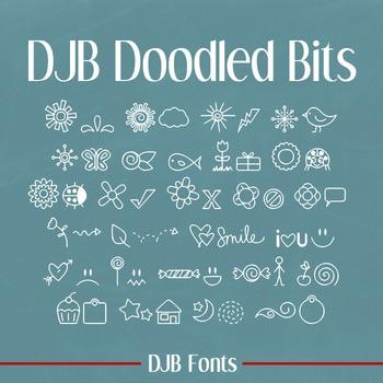 DJB Doodled Bits Dingbat Font - Personal Use