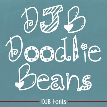DJB Doodlie Beans Font - Personal Use