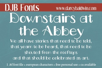 DJB Downstairs at the Abbey Font: Personal Use