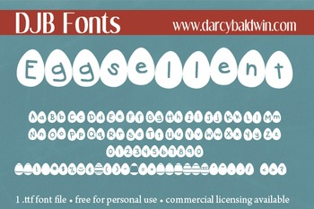 DJB Eggsellent Fonts - Personal Use