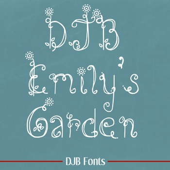 DJB Emily's Garden Font - Personal Use