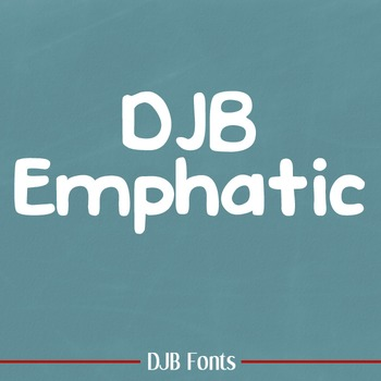 DJB Emphatic Font - Personal Use