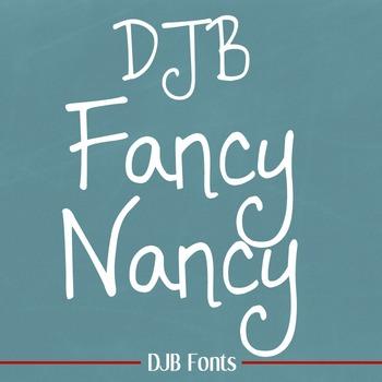 DJB Fancy Nancy Font - Personal Use