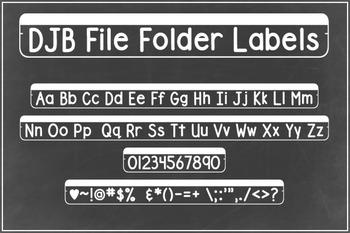 DJB File Folder Labels Font - Personal Use