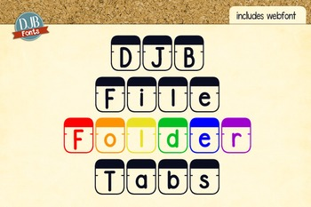 DJB File Folder Tabs Font - Personal Use