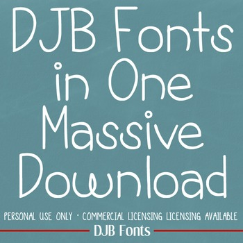 DJB Fonts in One Massive Download - Personal Use
