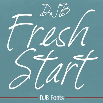 DJB Fresh Start Font - Personal Use
