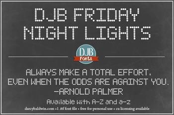 DJB Friday Night Lights Font - Personal Use