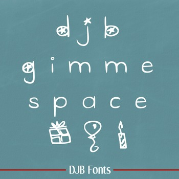 DJB Gimme Space Font - Personal Use