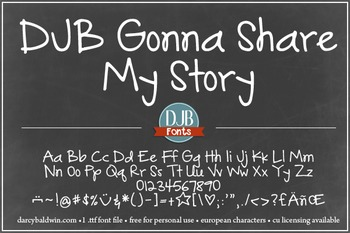 DJB Gonna Share My Story Font - Personal Use