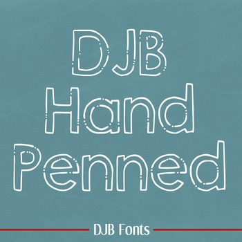 DJB Hand Penned Font - Personal Use