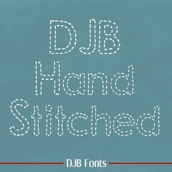 DJB Hand Stitched Font - Personal Use