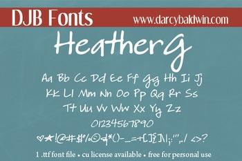 DJB HeatherG Font - Personal Use