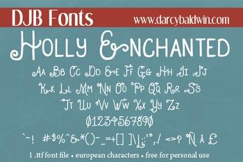 DJB Holly Enchanted Font - Personal Use