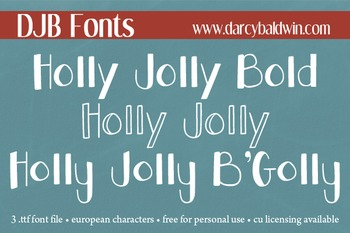 DJB Holly Jolly Fonts - Personal Use