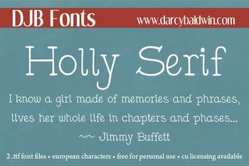 DJB Holly Serif - Personal Use