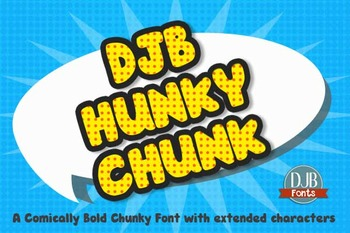 DJB Hunky Chunk Font - Personal Use