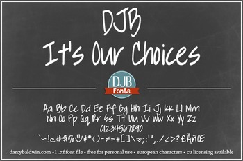 DJB It's Our Choices Font - Personal Use