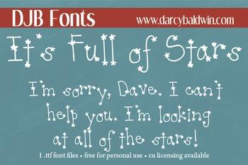 DJB It's Full of Stars Font - Personal Use