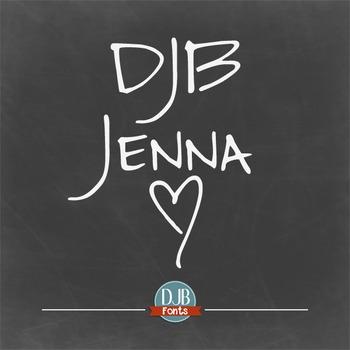 DJB JennaFont - Personal Use