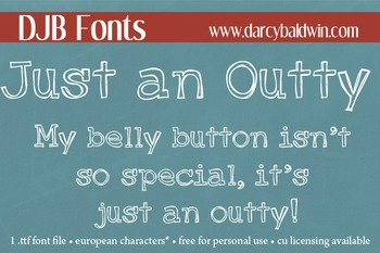 DJB Just an Outty Font - Personal Use
