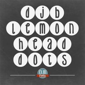 DJB Lemon Head Dots Font - Personal Use