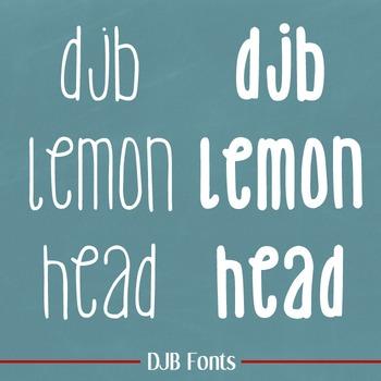 DJB Lemon Head Fonts - Personal Use