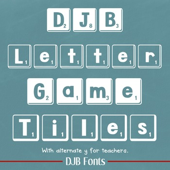DJB Letter Game Tiles - Personal Use