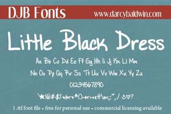 DJB Little Black Dress Font - Personal Use
