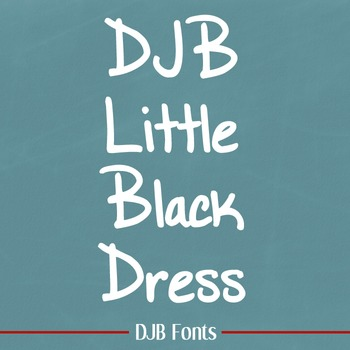 DJB Little Black Dress Font - Personal Use