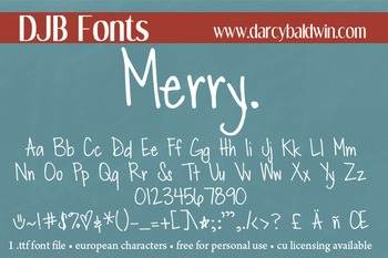 DJB Merry Font - Personal Use