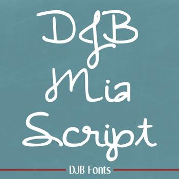 DJB Mia Script Font: Personal Use