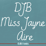 DJB Miss Jayne Aire Font: Personal Use