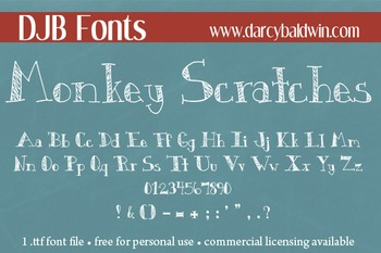 DJB Monkey Scratches Font - Personal Use