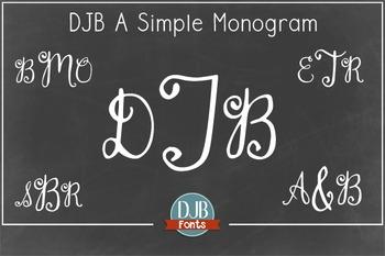 DJB Monogram Font - Personal Use