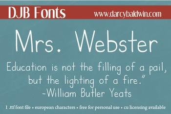 DJB Mrs. Webster Font: Personal Use