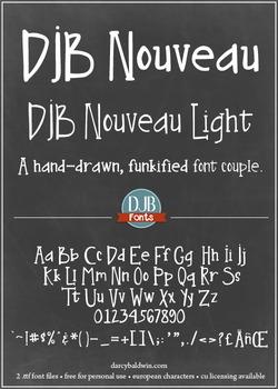 DJB Nouveau Font: Personal Use